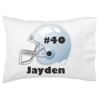 Football Fan Kids Personalized Pillowcase