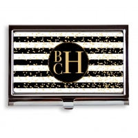 Glam Stripes Business Card Case