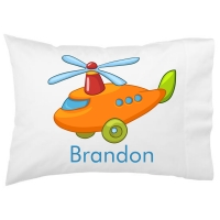Helicopter Kids Personalized Pillowcase