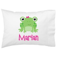 Miss Frog Kids Personalized Pillowcase