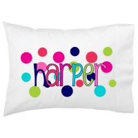 Polka Dots Kids Personalized Pillowcase