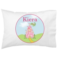Princess Castle Kids Personalized Pillowcase