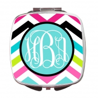 Rainbow Chevron Compact Mirror
