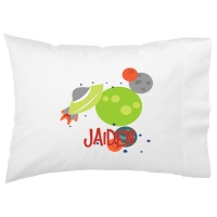 Space Ship Kids Personalized Pillowcase