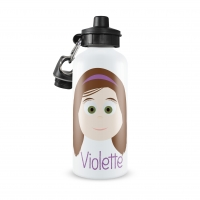 Personalized Girls Water Bottle-Straight Edge