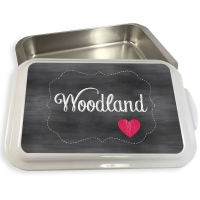 Chalkboard Heart Pattern Cake or Casserole Pan