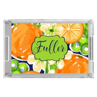 Orange Blossoms Serving Tray