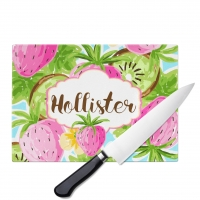Strawberry Kiwi Personalized Cutting Board