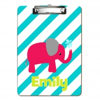 Watermelon Pink Elephant Kids Personalized Clipboard