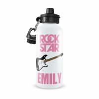 Rock Star Personalized Water Bottle Personalized Water Bottle, Boys Turtle Water Bottle, Custom Boys Water Bottle