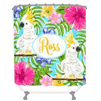 Cute Cockatoo's Personalized Shower Curtain Personalized Shower Curtain
