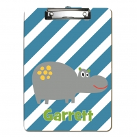Cute Hippo Kids Personalized Clipboard