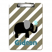 Black Elephant Kids Personalized Clipboard