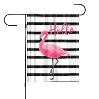 Flamingo Garden Flag Personalized Garden Flag Flamingos
