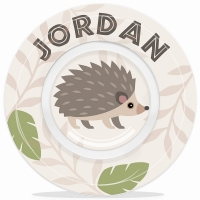 Hedgehog Personalized Boys Microwave Safe Bowl