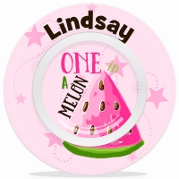 One In A Melon Girls Personalized Microwave Safe Bowl, Personalized Kids Bowls