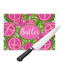 Perfectly Pomegranate Personalized Cutting Board
