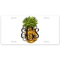 Pineapple Personalized Car Tag - Decorative License Plate, Monogrammed License Plate