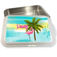 Personalized Pink Flamingo Pattern Cake Pan