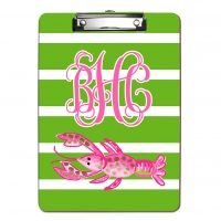 Polka Dot Lobster Personalized Clipboard