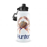 Preppy Crab Personalized Water Bottle, Preppy Fun Girls Water Bottles, Aluminum Water Bottles