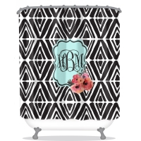 Serendipity Print Personalized Shower Curtain