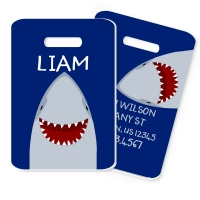 Shark Boys & Girls Personalized Luggage and Bag Tag, Monogrammed Bag Tag