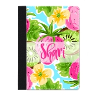 Strawberry Kiwi Personalized iPad Mini Folio Case, Monogrammed iPad Mini Case