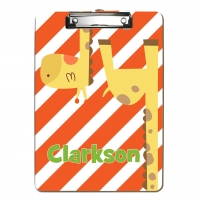Upside Down Giraffe Kids Personalized Clipboard