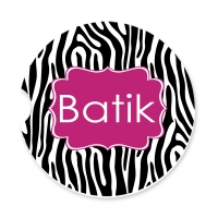 Zebra Print Personalized Monogrammed Car Coaster, Custom Car Coaster