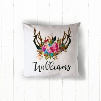 Antlers Bouquet Personalized Pillow