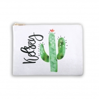 Southwest Cactus Personalized Makeup Bag
