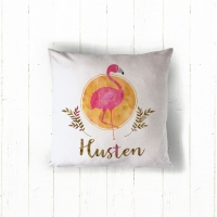 Flamingo Sun Personalized Pillow