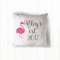 Flamingo Personalized Pillow