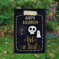 Halloween Trick or Treat Personalized Garden Flag, Custom Halloween Flag