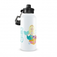 Mermaid Girl Personalized Kids Water Bottle, Mermaid Monogrammed Water Bottle