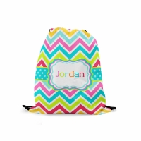 Rainbow Chevron Backpack