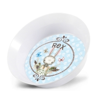 Personalized Kids Bowl - Bunny Boys Easter Bowl