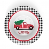 Christmas Truck Personalized Microwave Safe Bowl
