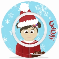 Personalized Little Me Girls Christmas Microwave Safe Bowl