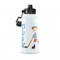 Hockey Player Boys Water Bottle