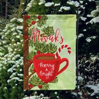 Merry & Bright Custom Christmas Garden Flag