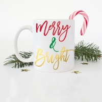 Merry & Bright Coffee Mug -11 or 15 oz Mug