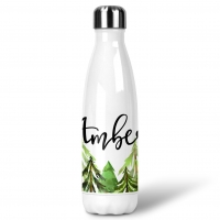 Pine Trees Custom Personalized Water Bottle Sports Bottle