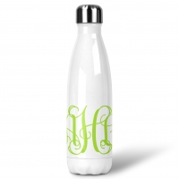 Vine Monogram Custom Personalized Water Bottle Sports Bottle