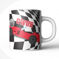 Race Car Personalized Kids Mug