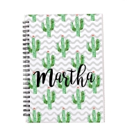 Personalized Notebook - Cactus
