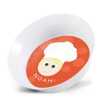 Personalized Boys Melamine Bowl - Chef Noah