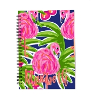 Personalized Notebook - Fancy Flamingo's