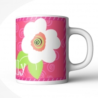 Flower Swirls Personalized Kids Mug